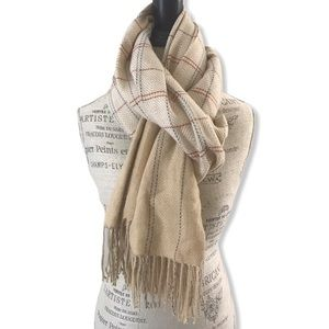 NWT Soft Tan Pashmina Scarf by Lulla Collection